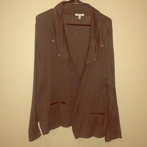 Maurices army green open front sweater